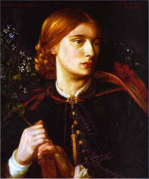 Portrait of Maria Leathart 1862   Dante Gabriel Rossetti   Oil Painting