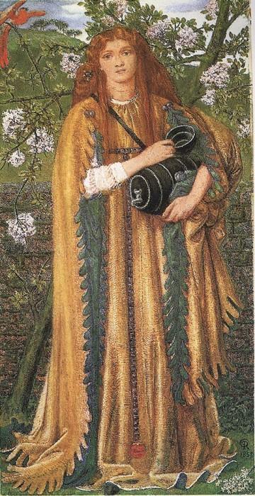 Princess Parisadi   Dante Gabriel Rossetti   Oil Painting