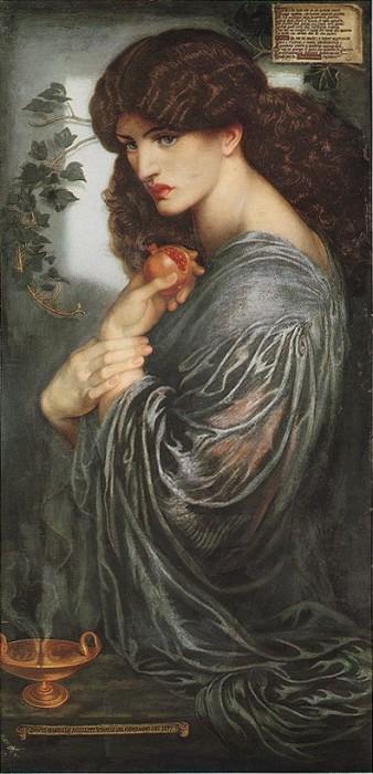 Proserpine 1877   Dante Gabriel Rossetti   Oil Painting