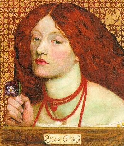 Regina Cordium 1860   Dante Gabriel Rossetti   Oil Painting