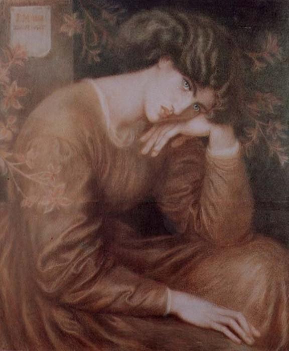 Reverie 1868   Dante Gabriel Rossetti   Oil Painting