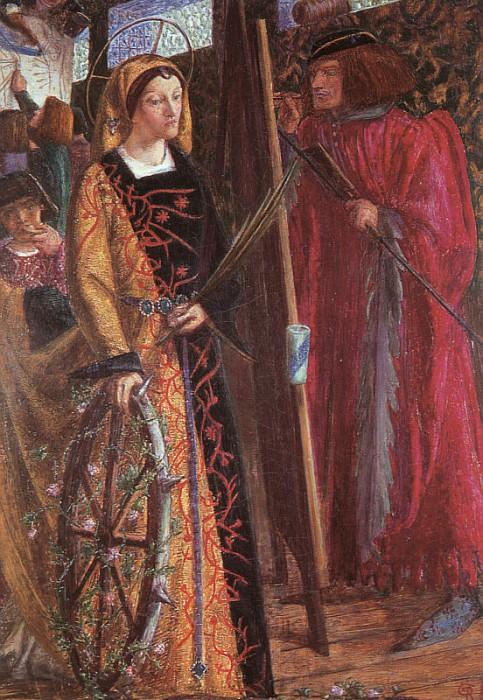 Saint Catherine 1857   Dante Gabriel Rossetti   Oil Painting