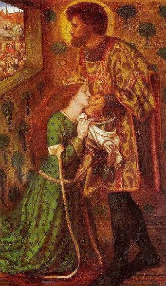 Saint George and the Princess Sabra 1862   Dante Gabriel Rossetti   Oil Painting