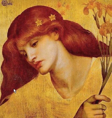 Sancta Lillias 1874   Dante Gabriel Rossetti   Oil Painting