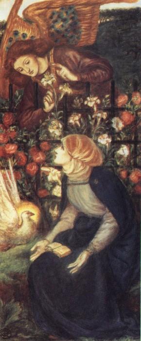 The Annunciation 1861   Dante Gabriel Rossetti   Oil Painting