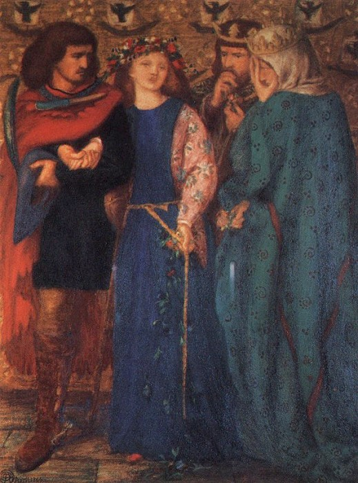 The First Madness of Ophelia 1864 | Dante Gabriel Rossetti | Oil Painting