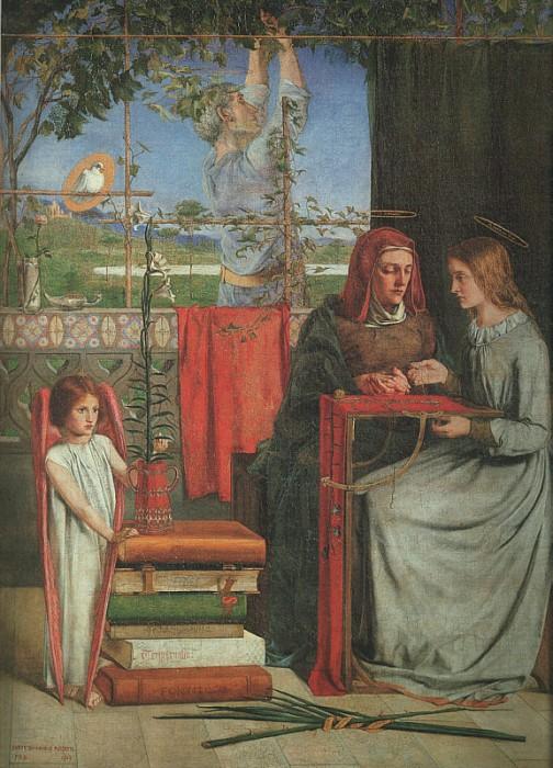 The Girlhood of Mary Virgin 1849 | Dante Gabriel Rossetti | Oil Painting