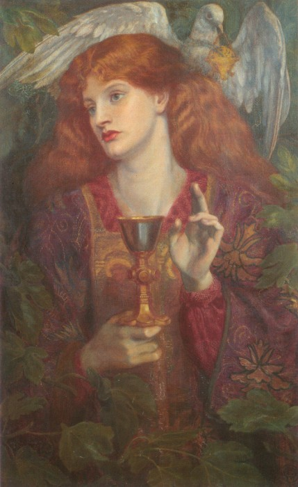 The Holy Grail | Dante Gabriel Rossetti | Oil Painting