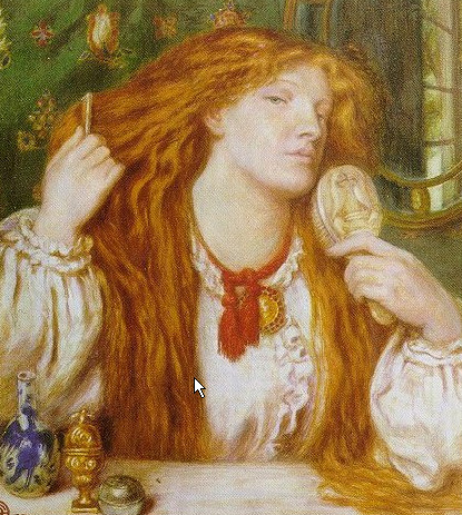 Woman Combing Her Hair 1864 | Dante Gabriel Rossetti | Oil Painting