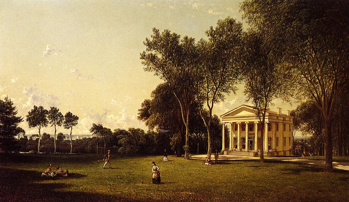 Croquet on the Lawn  1873 | David Johnson | Oil Painting