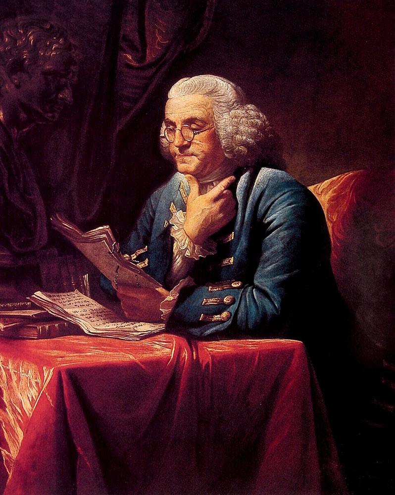 Portrait of Benjamin Franklin   David Martin   Oil Painting