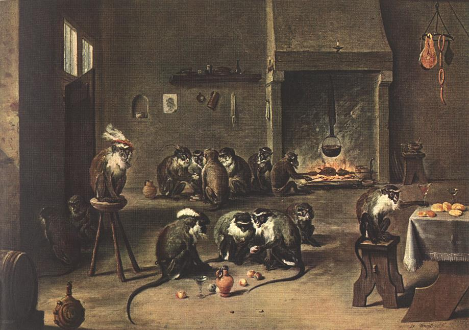 Apes In The Kitchen | David The Younger Teniers | Oil Painting