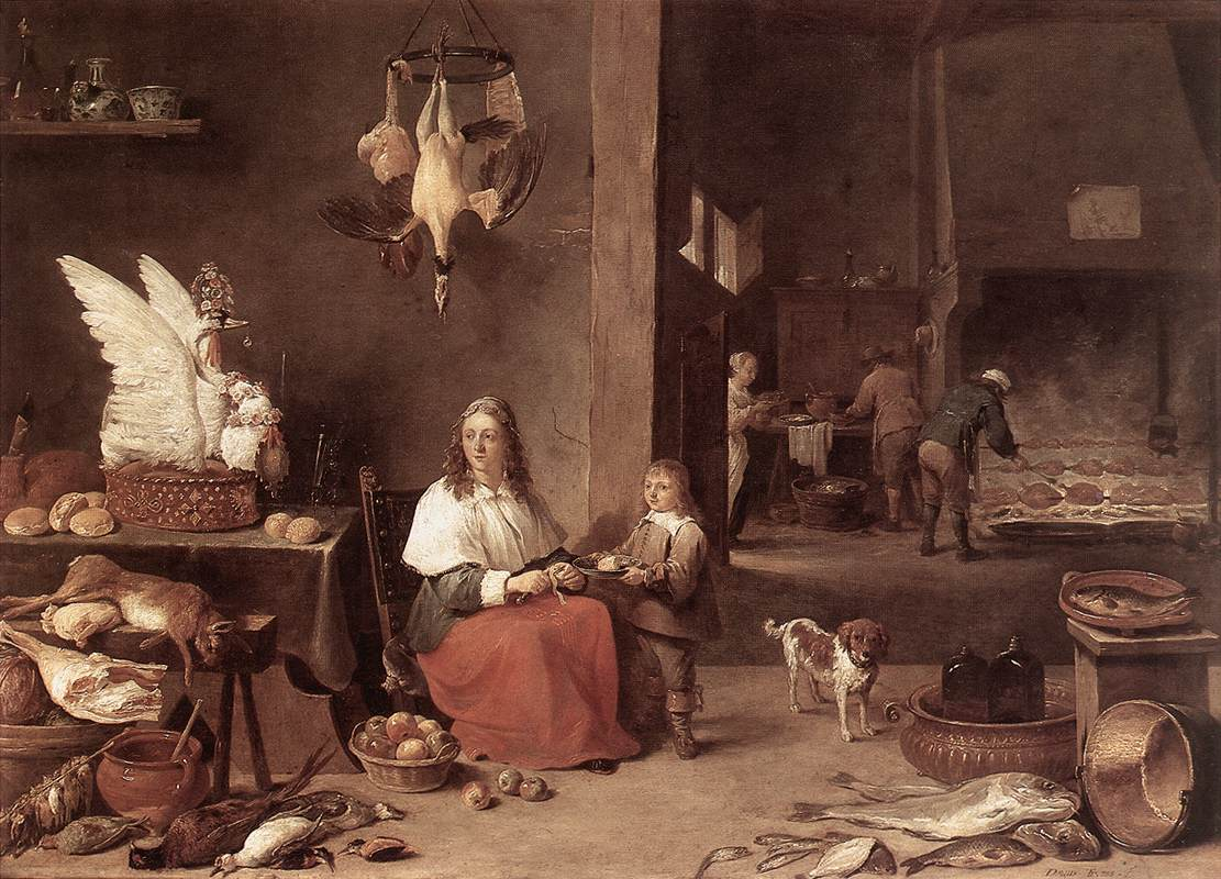 Kitchen Scene 1644 | David The Younger Teniers | Oil Painting