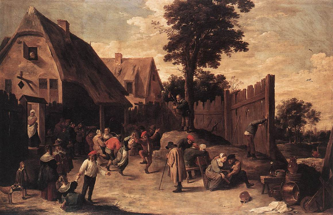 Peasants Dancing Outside An Inn 1645-50 | David The Younger Teniers | Oil Painting