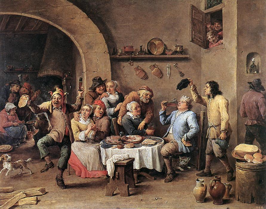Twelfth Night The King Drinks 1634-40 | David The Younger Teniers | Oil Painting