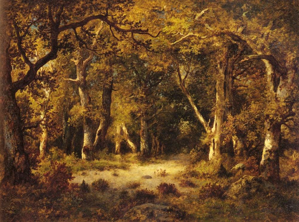 En Foret De Fontainebleau | De La Pena Narcisse Virgile Diaz | Oil Painting