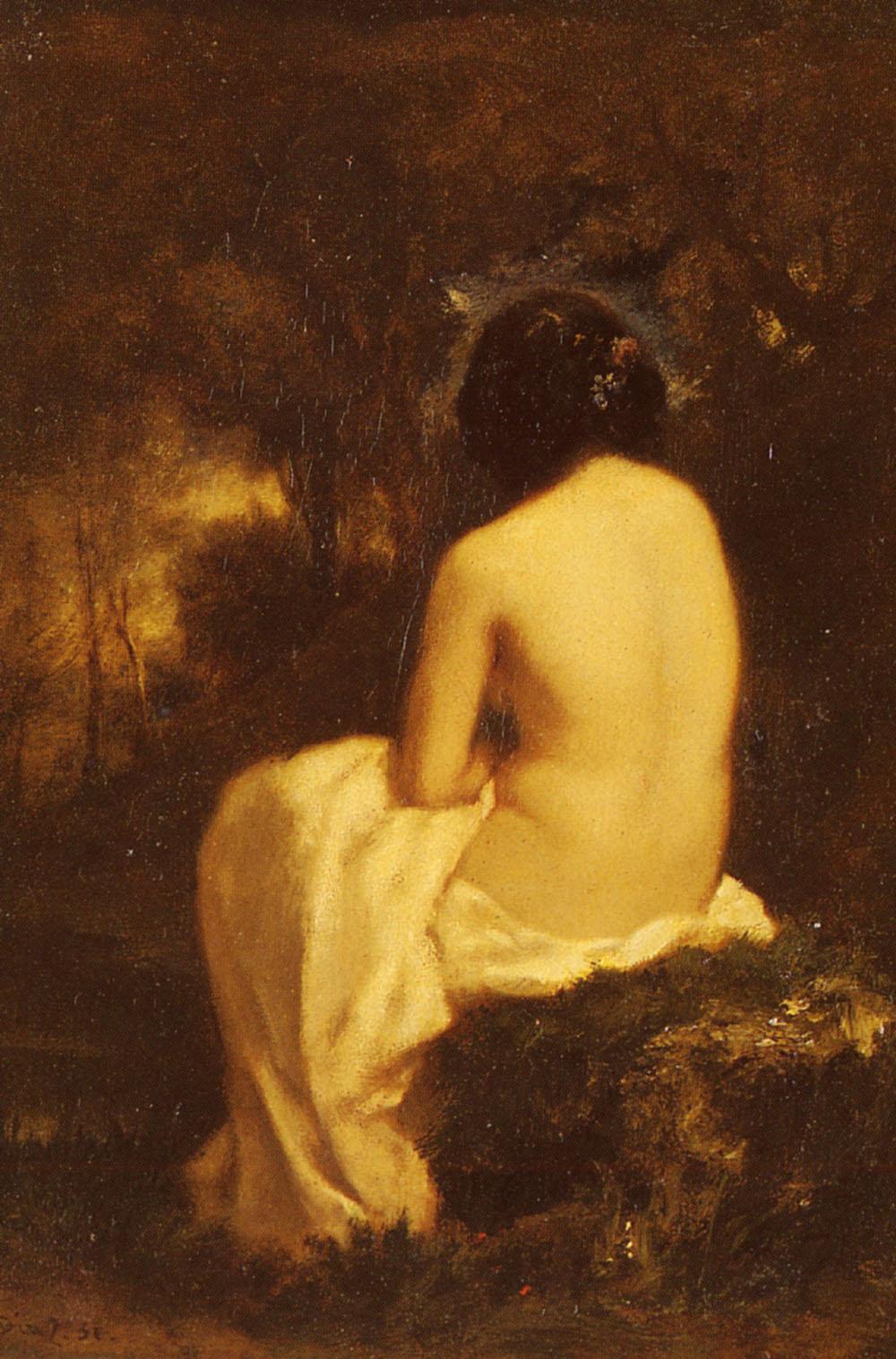 Baigneuse   De La Pena Narcisse Virgile Diaz   Oil Painting
