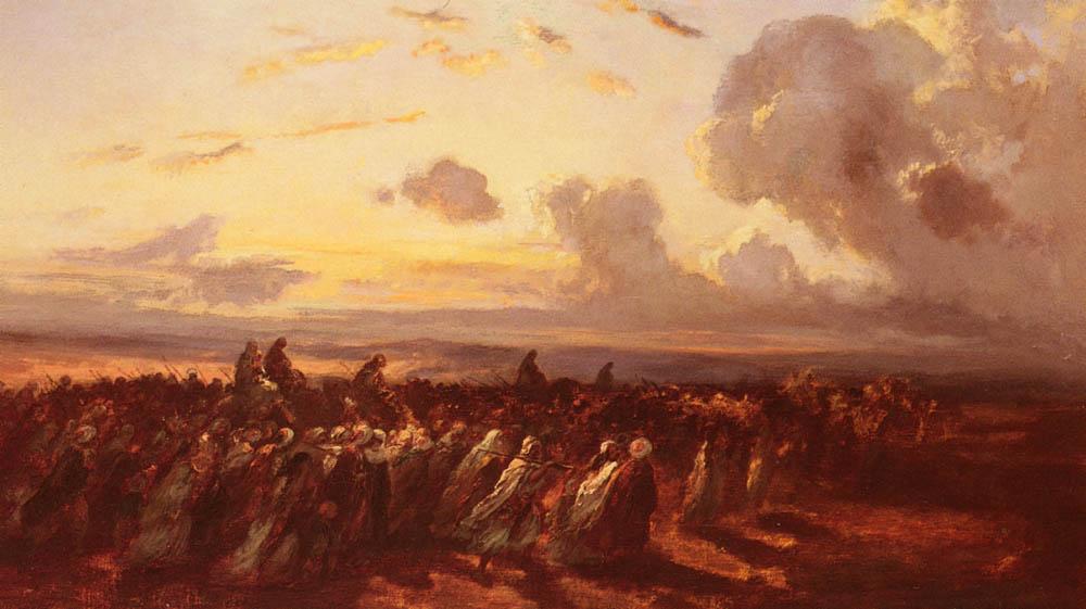 Fuite Des Turcs | De La Pena Narcisse Virgile Diaz | Oil Painting