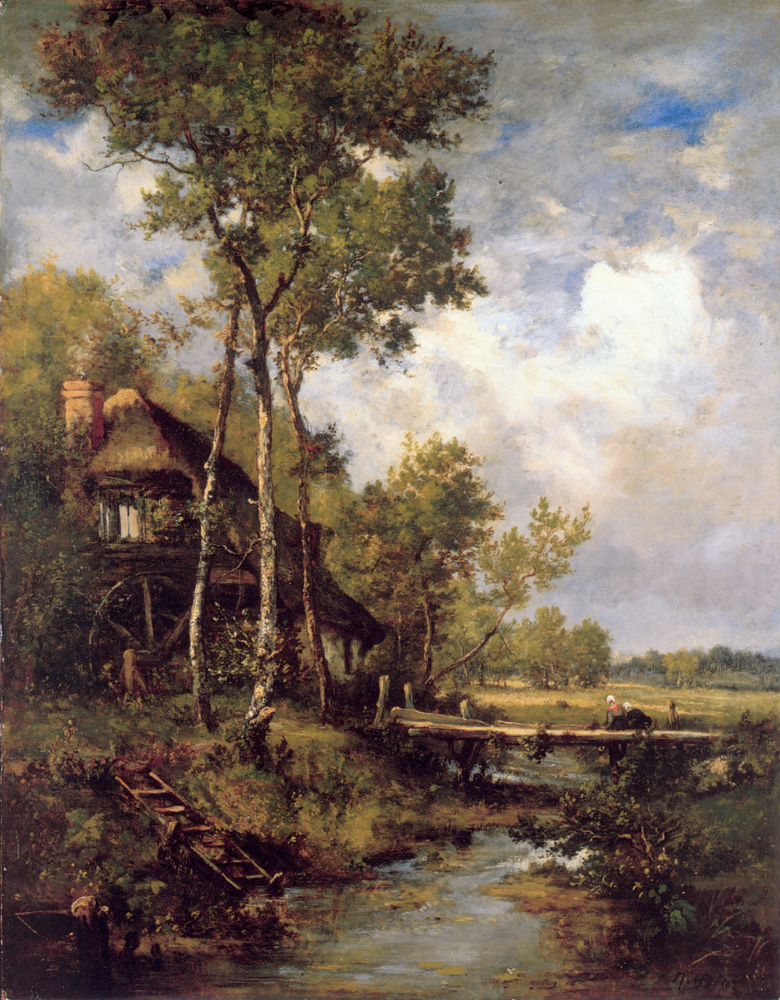 The Old Windmill near Barbizon | De La Pena Narcisse Virgile Diaz | Oil Painting