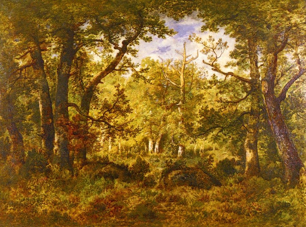 A Sunlit Clearing In The Forest | De La Pena Narcisse Virgile Diaz | Oil Painting