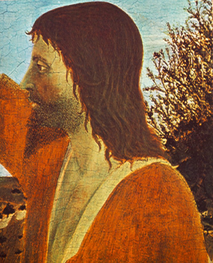 Baptism Of Christ Detail I 1448-50 | Della Francesca Piero | Oil Painting