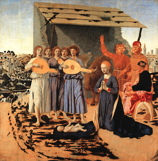 Nativity 1470 | Della Francesca Piero | Oil Painting