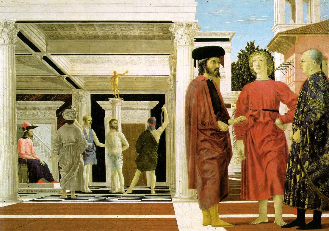 The Flagellation 1455 | Della Francesca Piero | Oil Painting