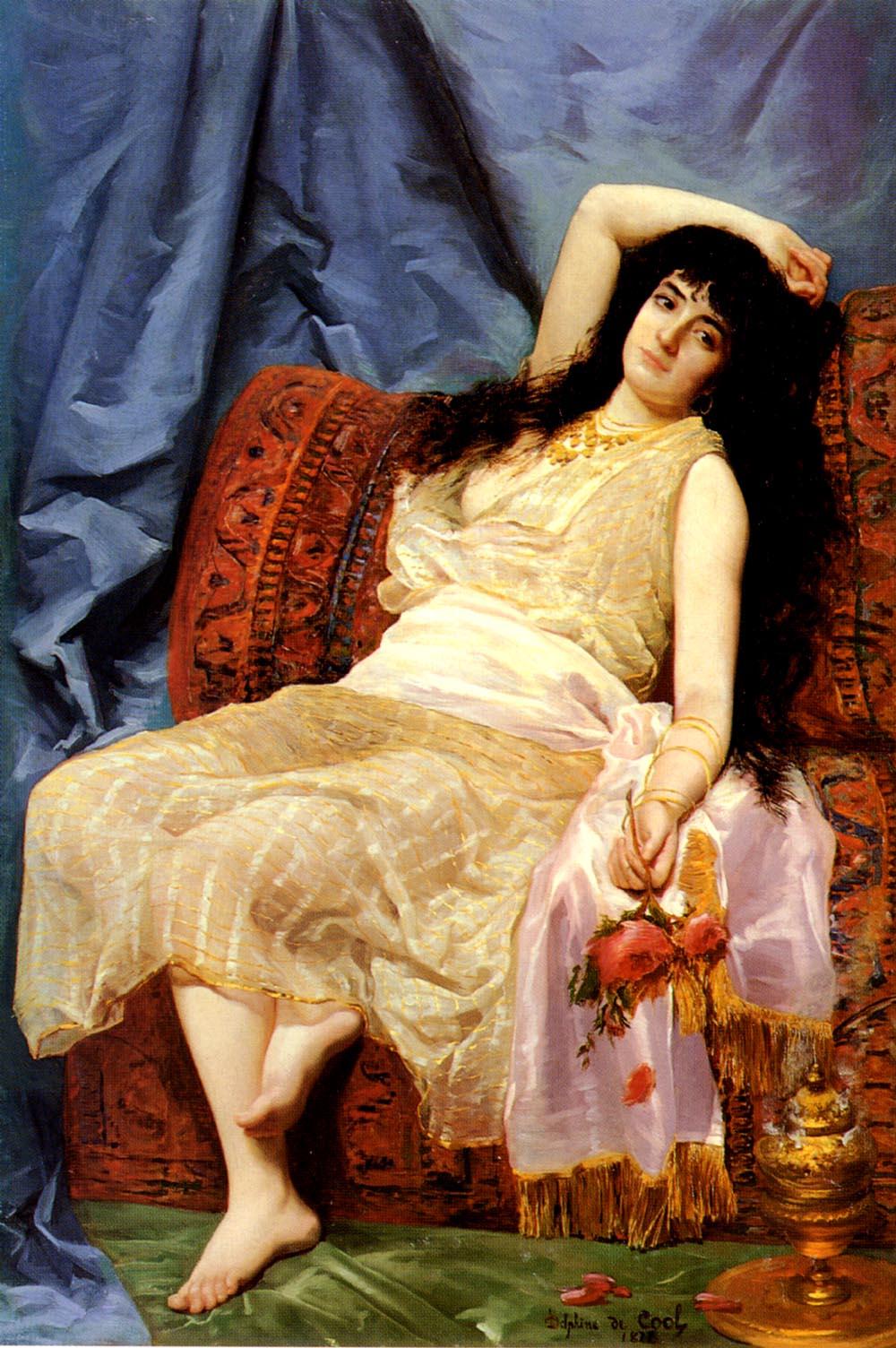 Une Jeune Orientale | Delphine Arnould de Cool | Oil Painting