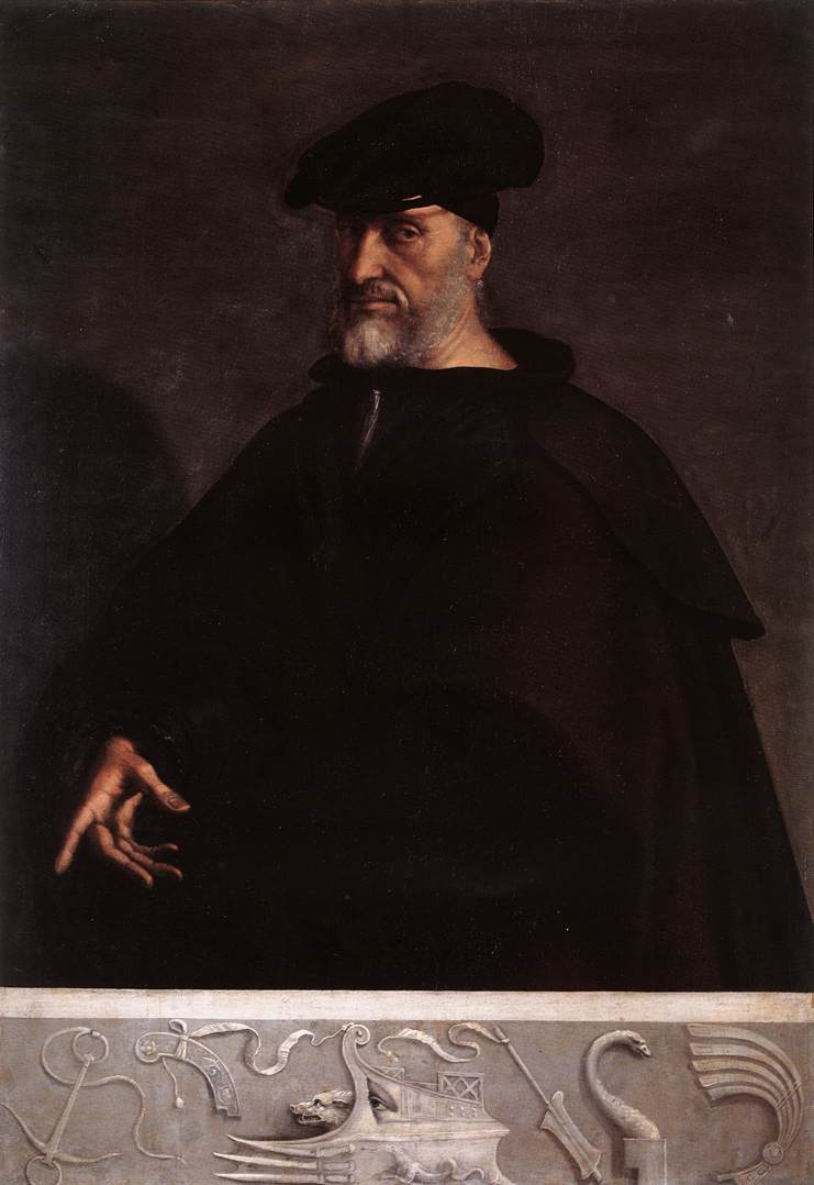 Portrait Of Andrea Doria 1526 | Del Piombo Sebastiano | Oil Painting
