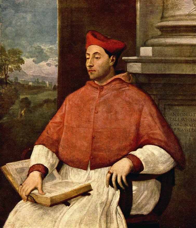 Portrait of Antonio Cardinal Pallavicini | Del Piombo Sebastiano | Oil Painting