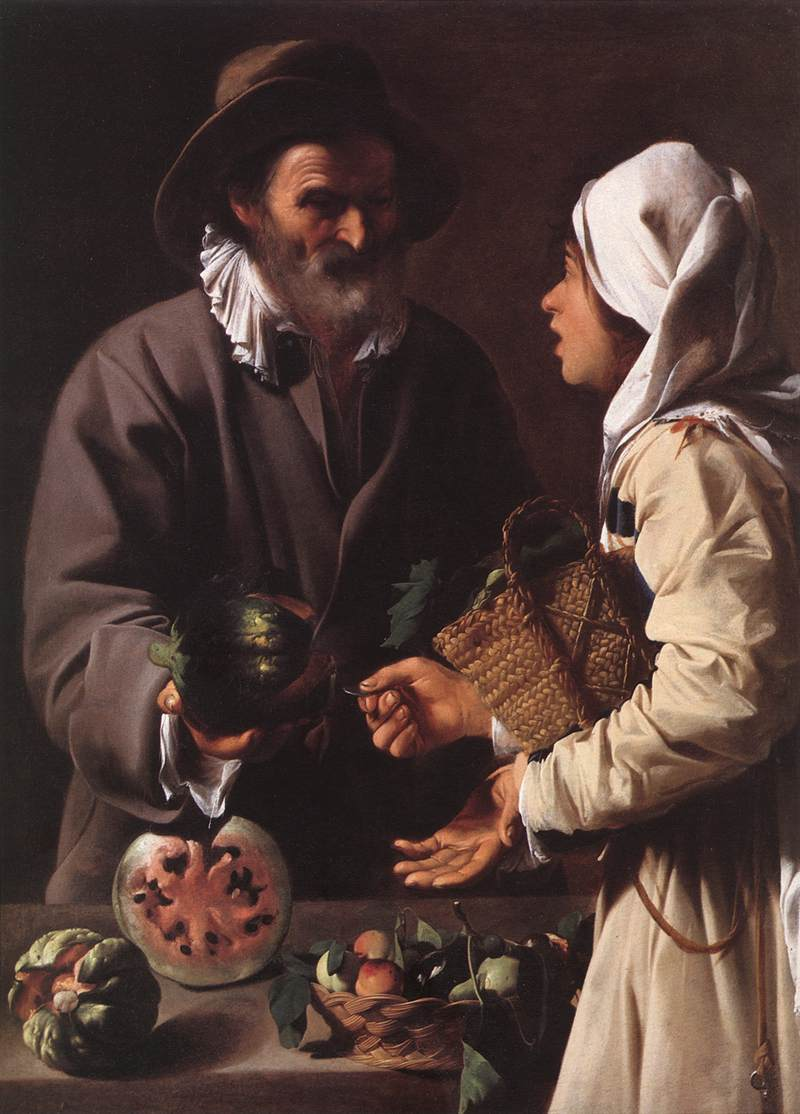 The Fruit Vendor 1615-20 | Del Saraceni Pensionante | Oil Painting