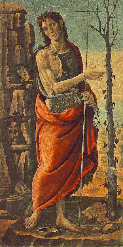 St John The Baptist 1485 | Del Sellaio Jacopo | Oil Painting