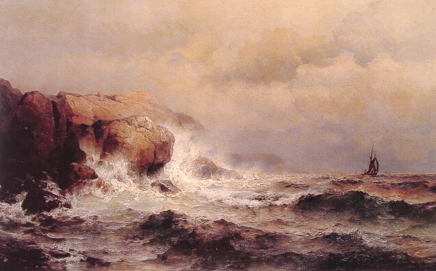 Ship Off A Stormy Coast | De Mauritz Haas | Oil Painting