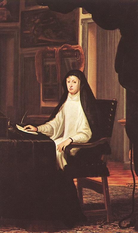 Queen Mary Anne Of Austria As A Widow 1669 | De Mirande Juan Carreno | Oil Painting