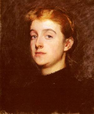 Portrait Sketch Of Eleanor Hardy Bunker   Dennis Miller Bunker   Oil Painting