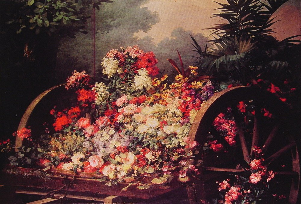A Cart of Flowers | Desire De Keghel | Oil Painting