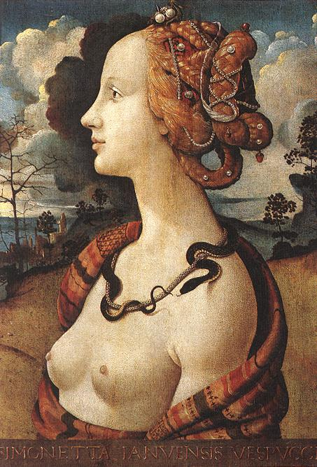 Portrait Of Simonetta Vespucci 1480 | Di Cosimo Piero | Oil Painting