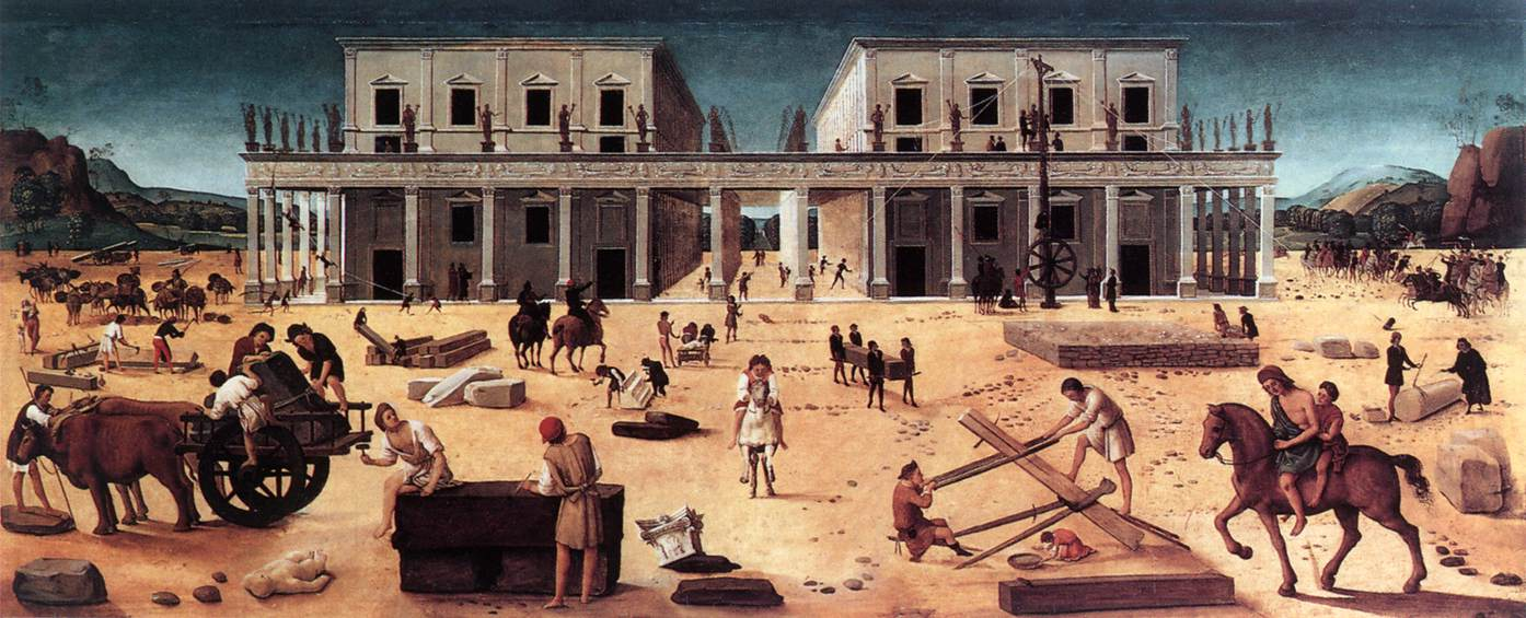 The Building Of A Palace 1515-20 | Di Cosimo Piero | Oil Painting