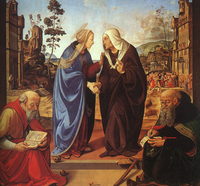 The Visitation With Sts Nicholas And Anthony 1489-90 | Di Cosimo Piero | Oil Painting