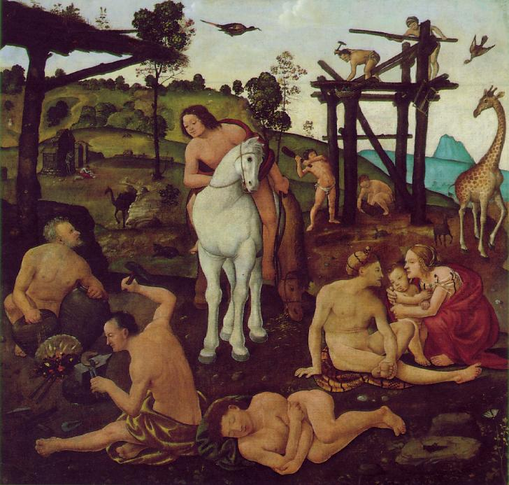 Vulcan And Aeolus 1495-1500 | Di Cosimo Piero | Oil Painting