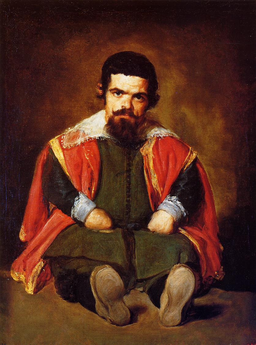 A Dwarf Sitting on the Floor 1645 | Diego Velazquez | Oil Painting