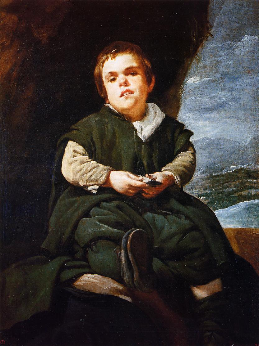 The Dwarf Francisco Lezcano 1643 1645 | Diego Velazquez | Oil Painting