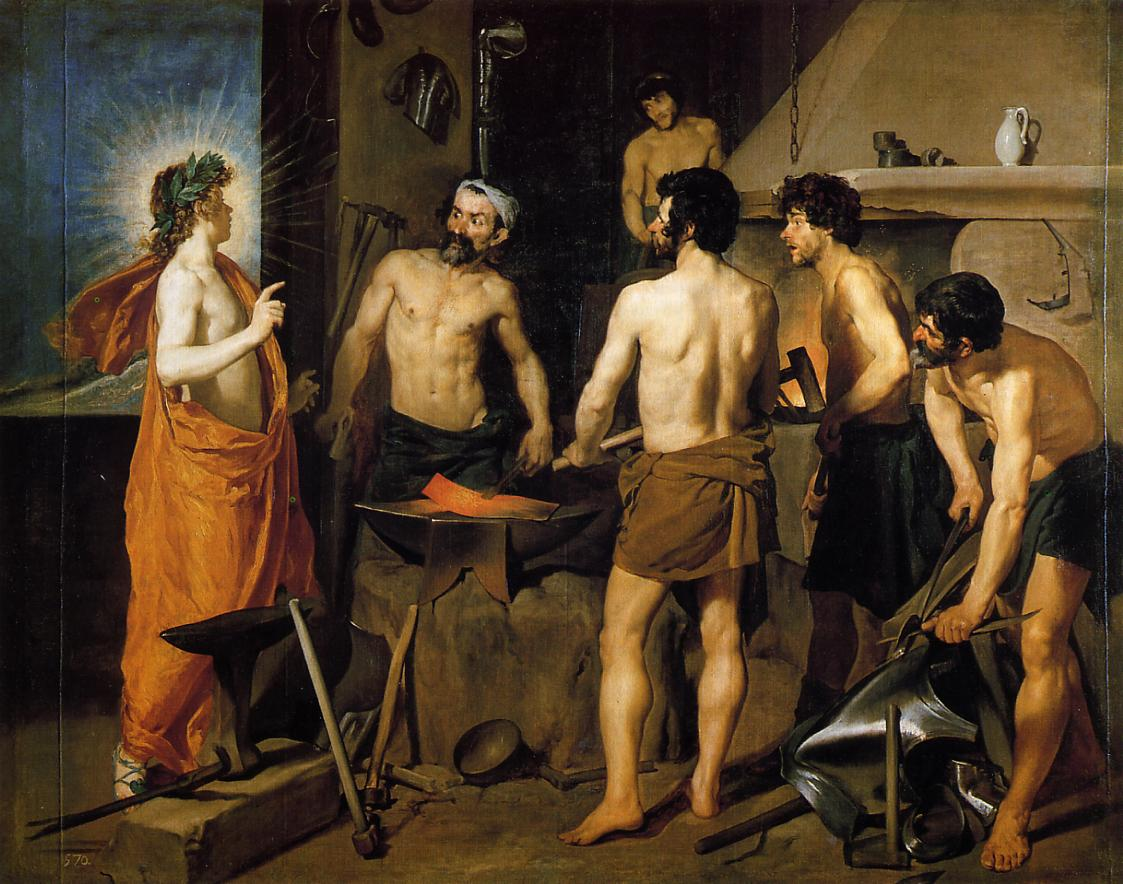 The Forge of Vulcan 1630 | Diego Velazquez | Oil Painting