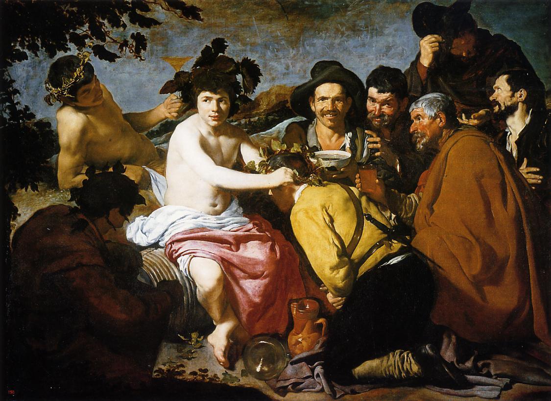 Bacchus aka the drunken 1628 1629 | Diego Velazquez | Oil Painting