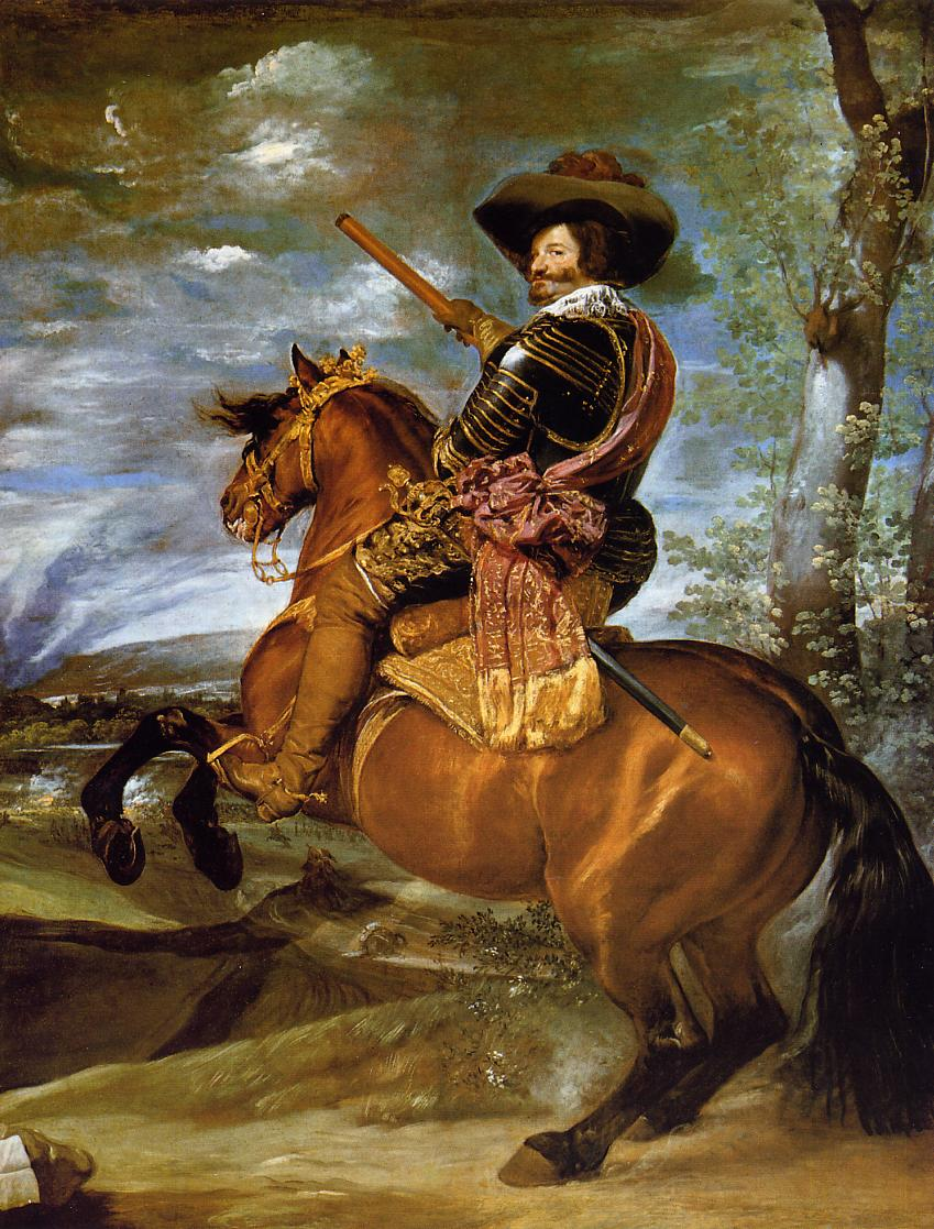 Count Duke of Olivares on Horseback 1634 | Diego Velazquez | Oil Painting