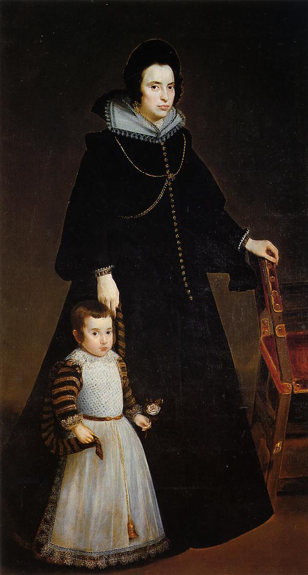 Dona Antonia de Ipenarrieta y Galdos with Her Son 1631 1632 | Diego Velazquez | Oil Painting
