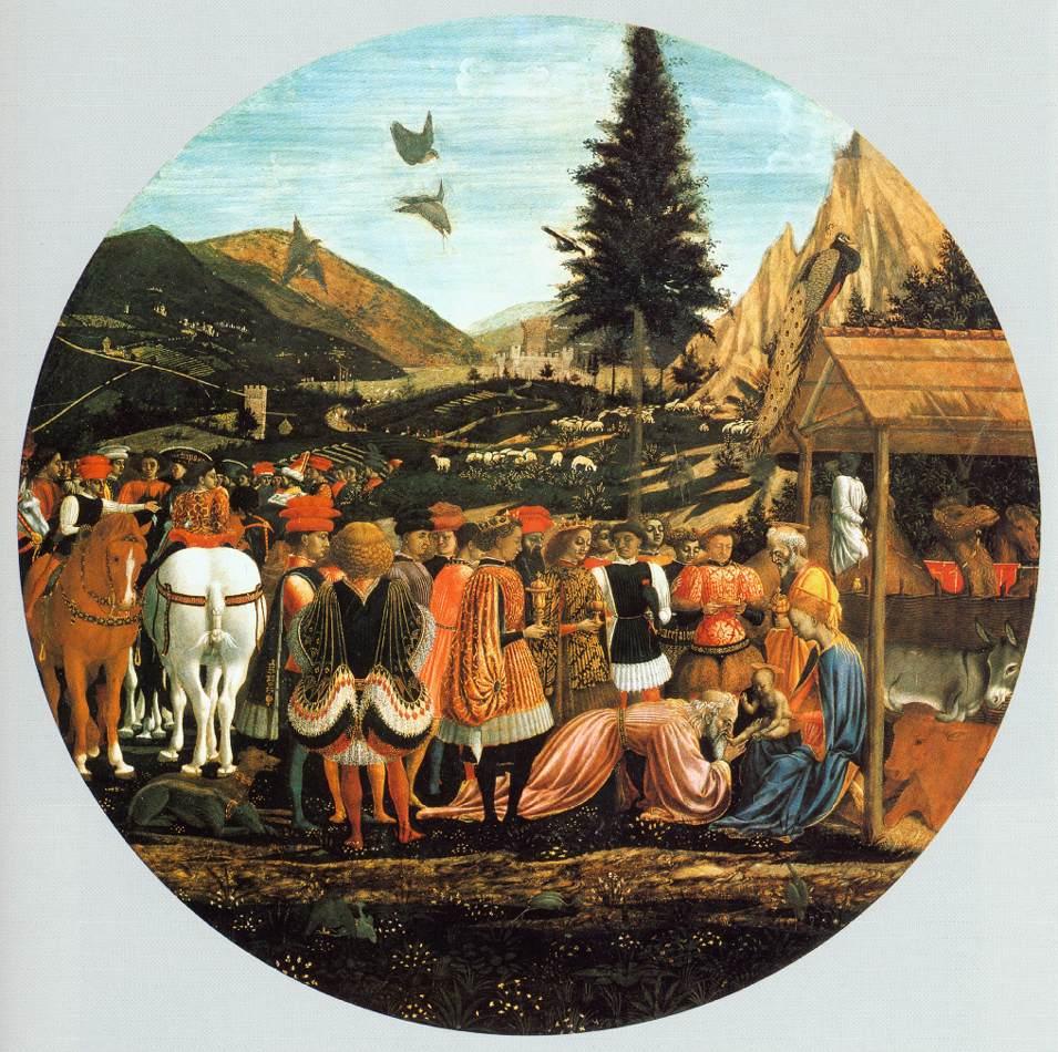 Adoration Of The Magi 1440-43   Di Michelino Domenico   Oil Painting