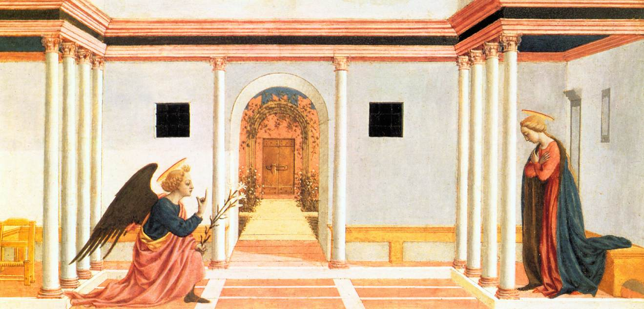 Annunciation (Predella) 3 1445 | Di Michelino Domenico | Oil Painting