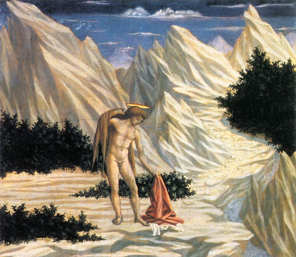 St John In The Wilderness (Predella) 2 1445 National Gallery   Di Michelino Domenico   Oil Painting
