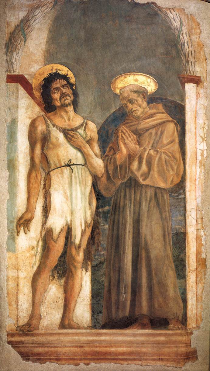 St John The Baptist And St Francis 1454   Di Michelino Domenico   Oil Painting